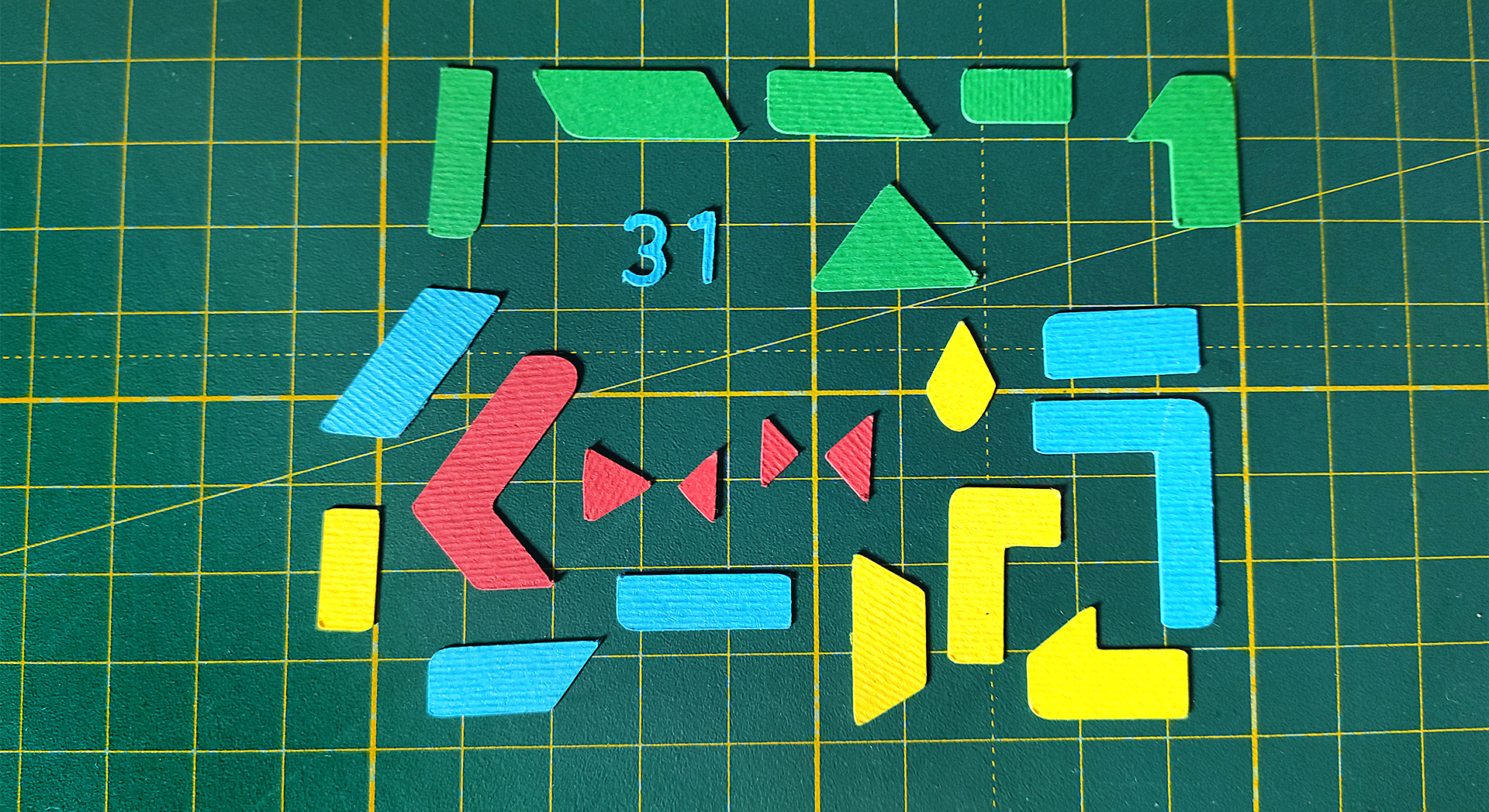 paper craft google icons animated tetris style behind the scenes