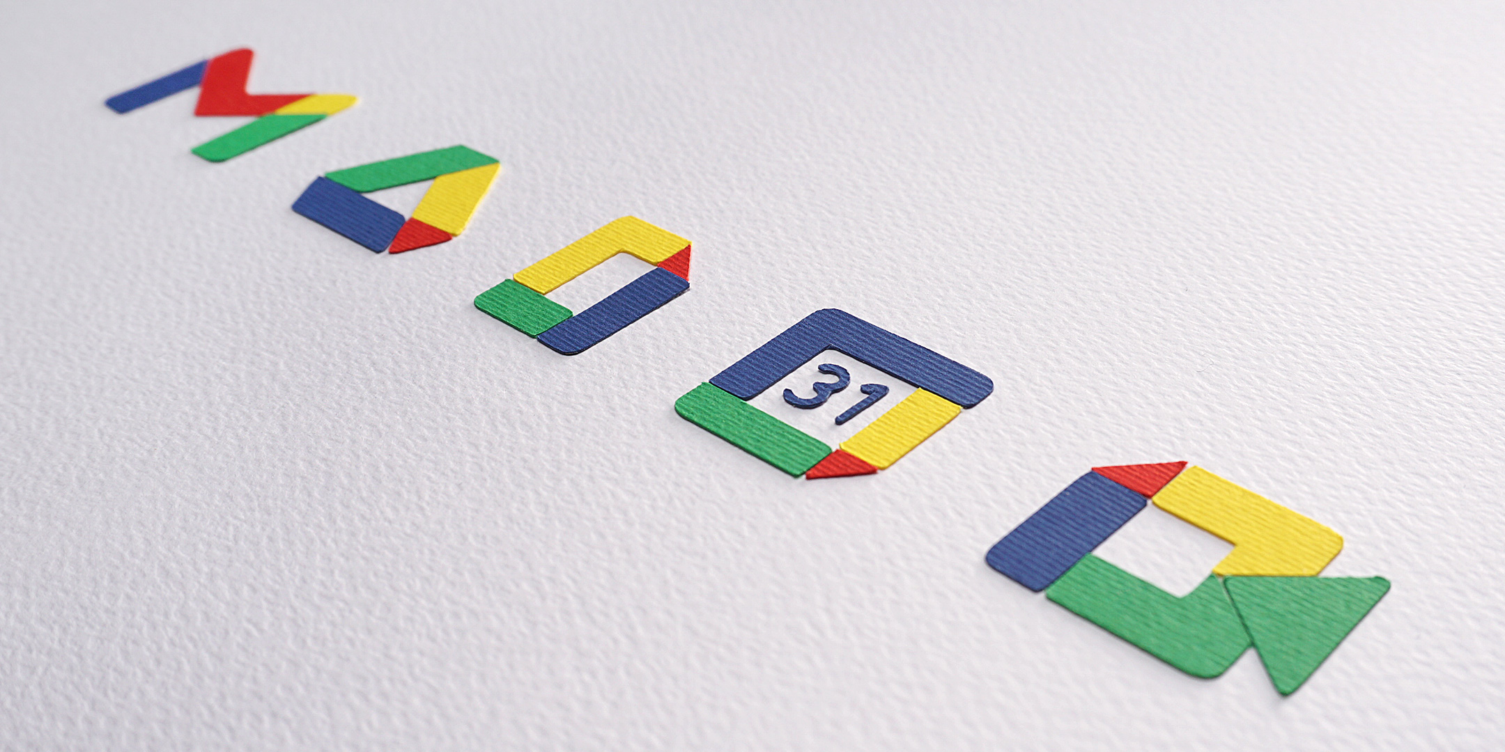 paper cut google services icons stop motion animation